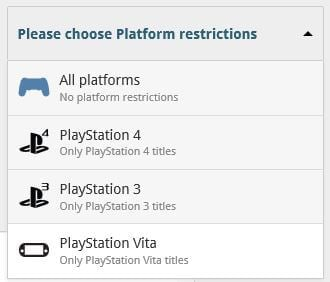 You can now choose a specific Platform