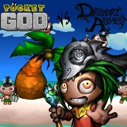 Pocket God vs. Desert Ashes (Vita)