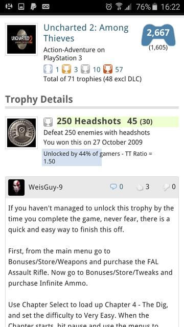 Trophy guide