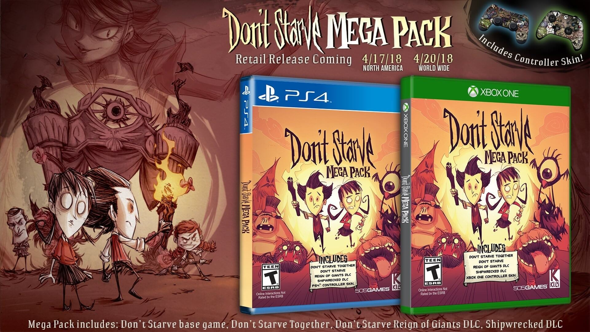 Dont Starve Mega Pack Retail Release Date Announced