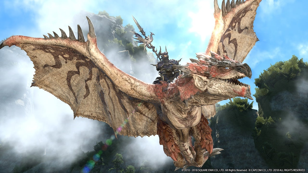Take on Monster Hunter's Rathalos in Final Fantasy XIV This August