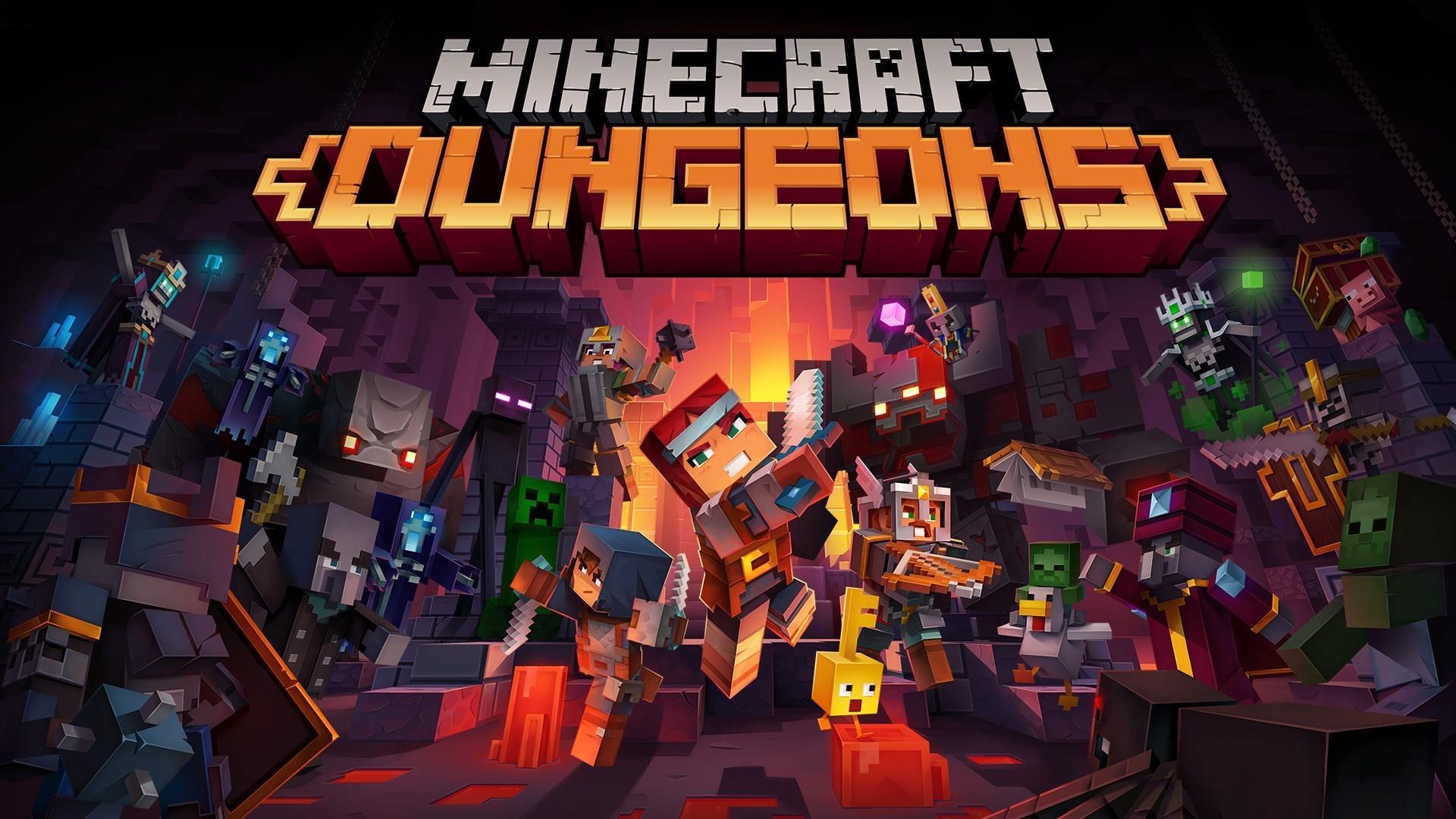 Minecraft Dungeons ~ TitledHeroArt