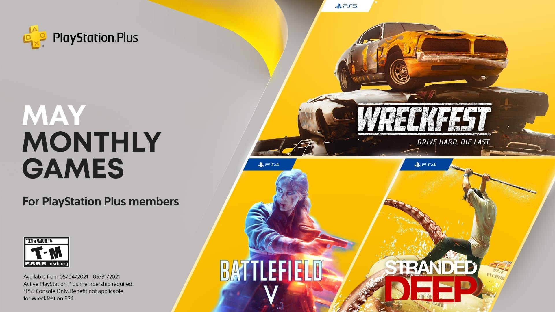 PS Plus games May