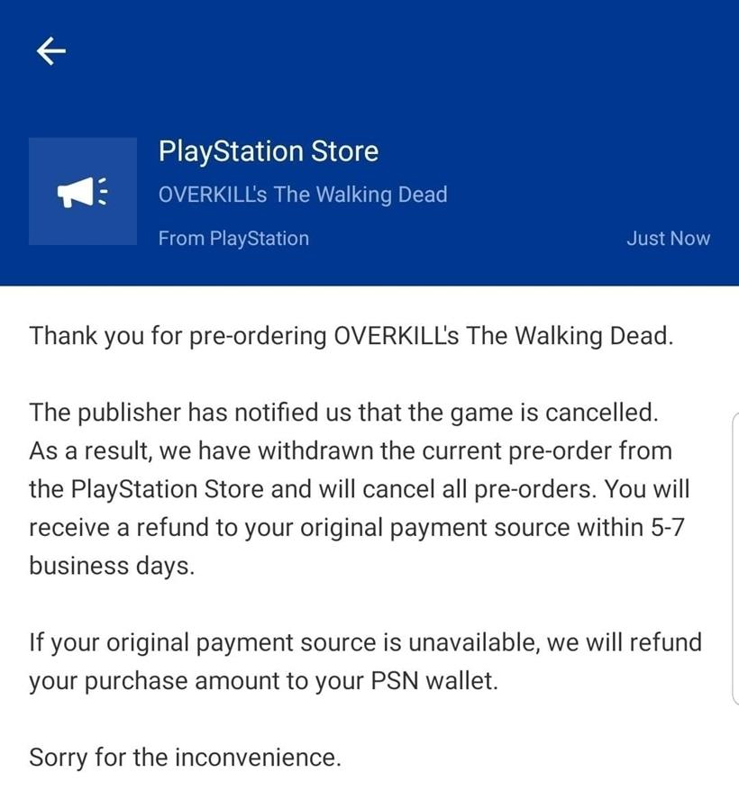 Cancellation e-mail