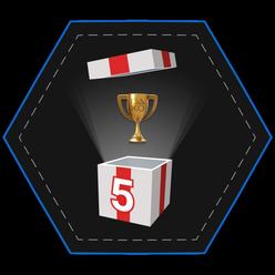 Five Gold Trophies