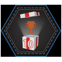 Ten Bronze Trophies